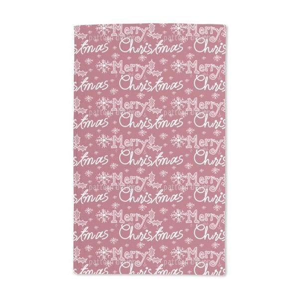 The Snowflakes Christmas Greetings Hand Towel (Set of 2)