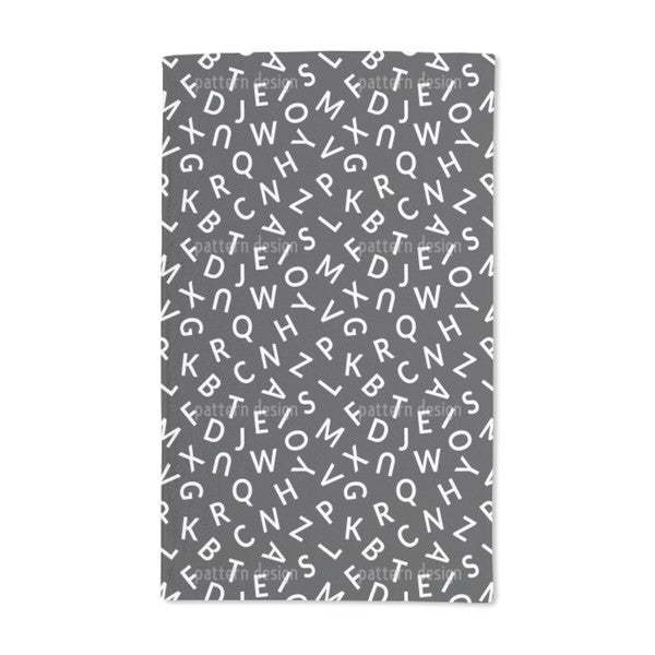 Letters Hand Towel (Set of 2)