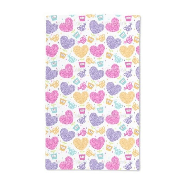 Hearts Need Water and Love Hand Towel (Set of 2)