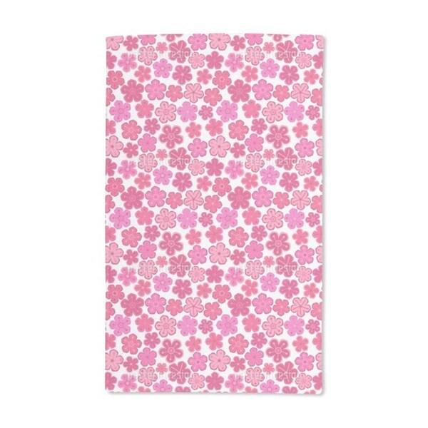 Pretty Flower Ladies Hand Towel (Set of 2)