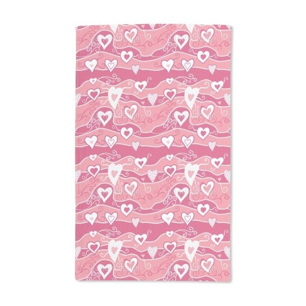 Sea of Hearts Hand Towel (Set of 2)