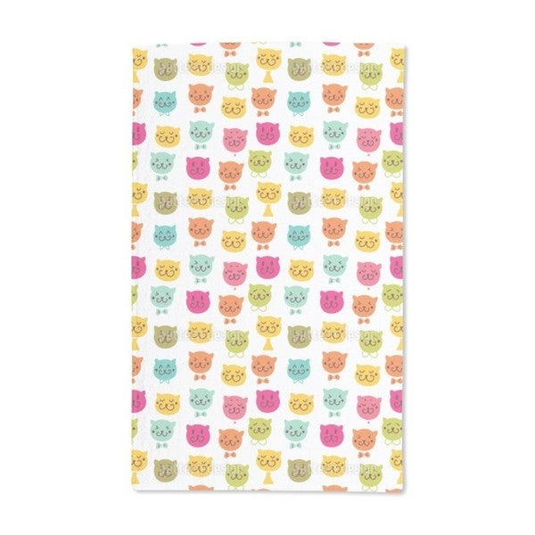 Meow Meow Hand Towel (Set of 2)
