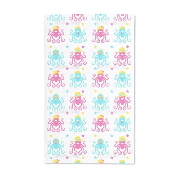 Funny Octopus Party Hand Towel (Set of 2)