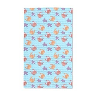 Swimming With Crabs Hand Towel (Set of 2)