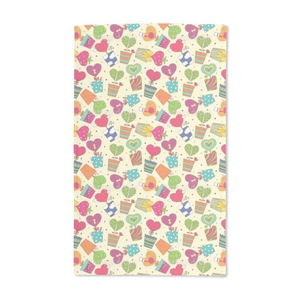 Potted Plants With Hearts Hand Towel (Set of 2)
