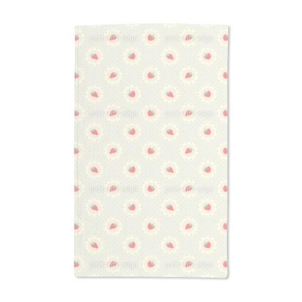 Retro Strawberry Hand Towel (Set of 2)