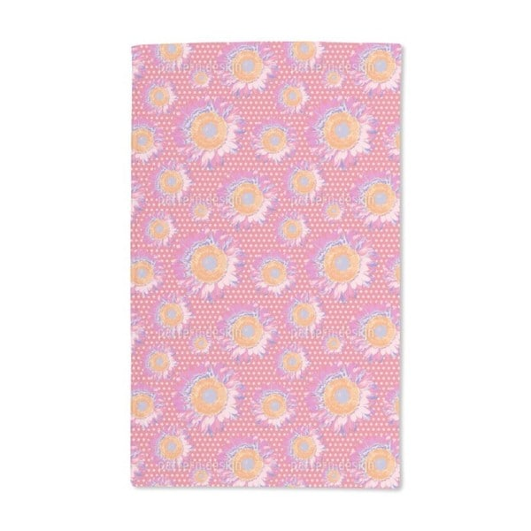 Sunflowers on Polka Dot Hand Towel (Set of 2)