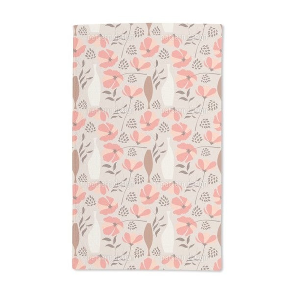 Poppies For Vases Hand Towel (Set of 2)