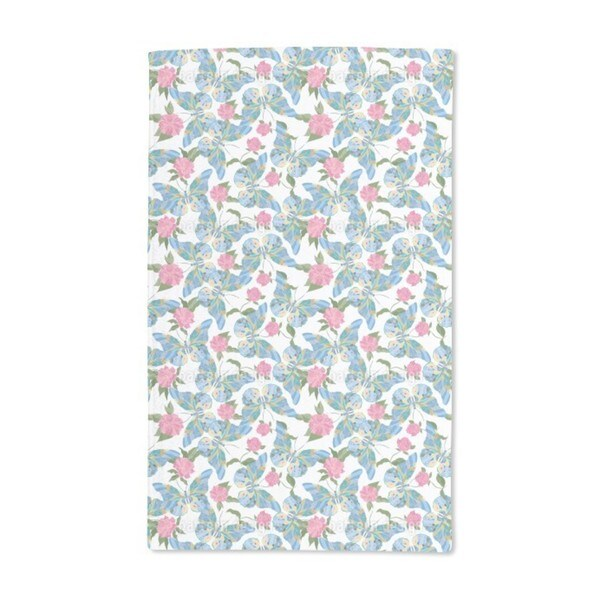 Butterflies Drawn to Peonies Hand Towel (Set of 2)
