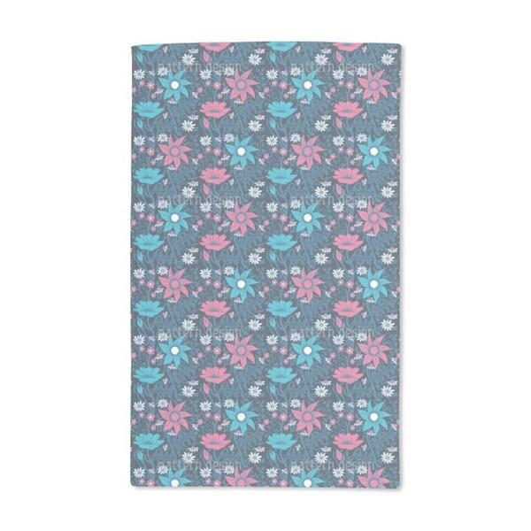 Flowers in the Nightshade Hand Towel (Set of 2)