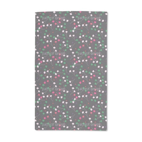 Delicate Flowers at Night Hand Towel (Set of 2)