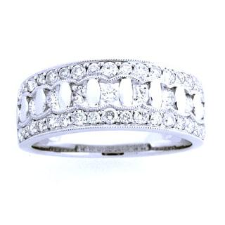 Azaro 18k White Gold 5/8ct TDW Diamond Fashion Band