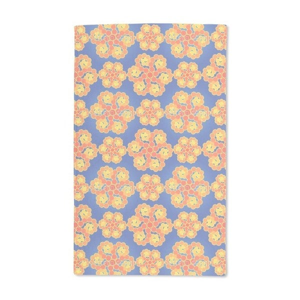 Compass Flowers Hand Towel (Set of 2)