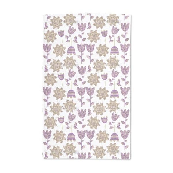 Fabric Flowers Hand Towel (Set of 2)