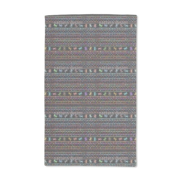 Drawing in the Ethno Disco Hand Towel (Set of 2)