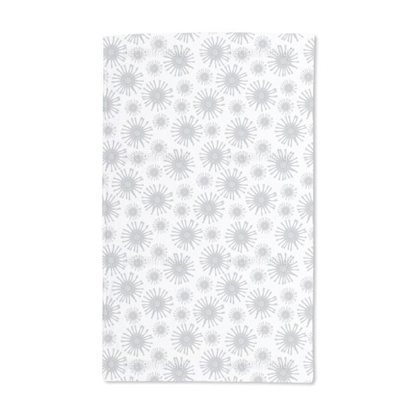 Monochrome Starflowers Hand Towel (Set of 2)