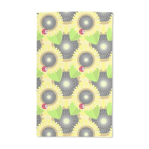 Sunflowers and Ladybugs Hand Towel (Set of 2)