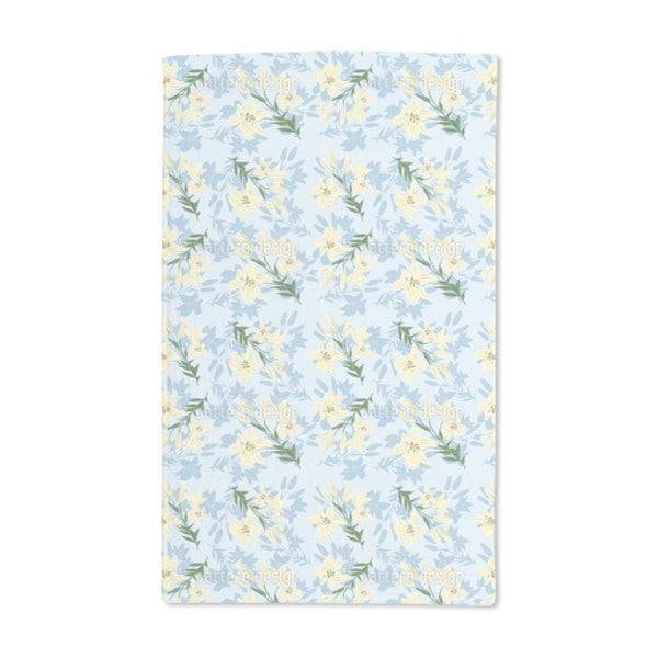 Delicate Lily Hand Towel (Set of 2)