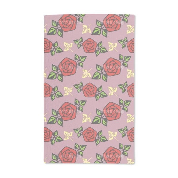 Flower of Passion Hand Towel (Set of 2)