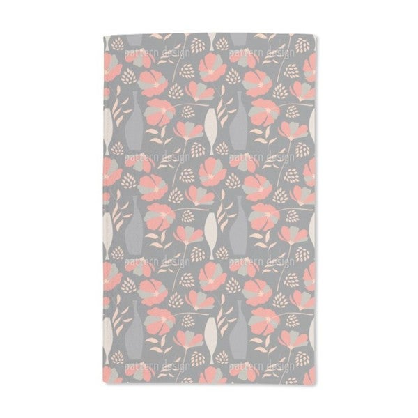 Poppies and Vases Hand Towel (Set of 2)