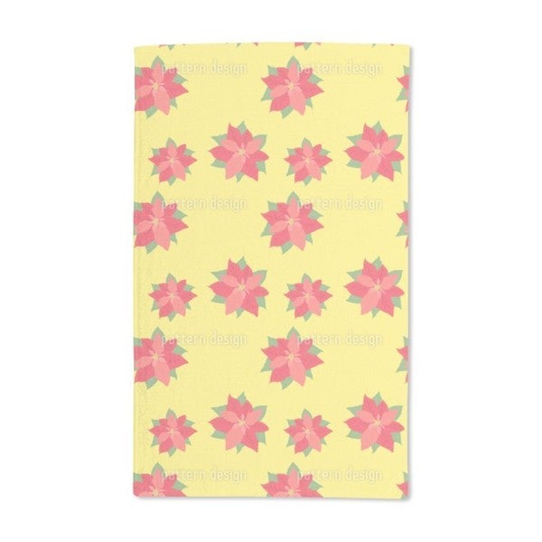 Poinsettia in Bloom Hand Towel (Set of 2)