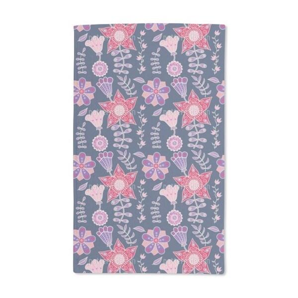 Night Flowers of Kutna Hora Hand Towel (Set of 2)