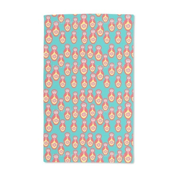 Happy Matryoshkas Hand Towel (Set of 2)