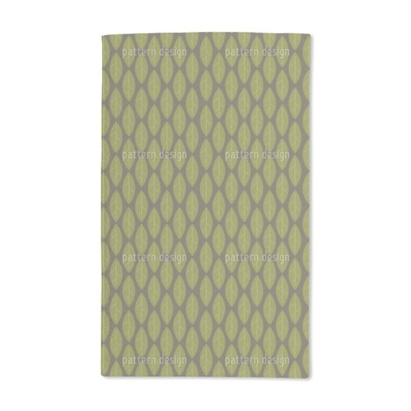 Large Leaves Hand Towel (Set of 2)