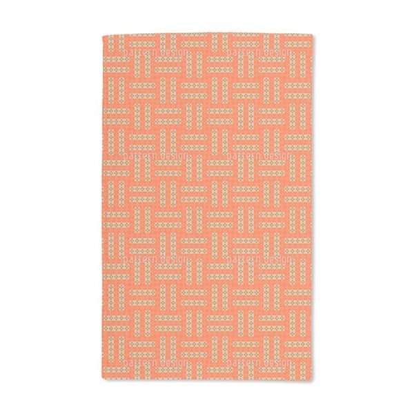 Cross Rectangles Hand Towel (Set of 2)