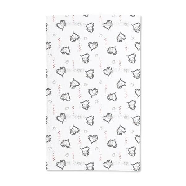 Melting Hearts Hand Towel (Set of 2)