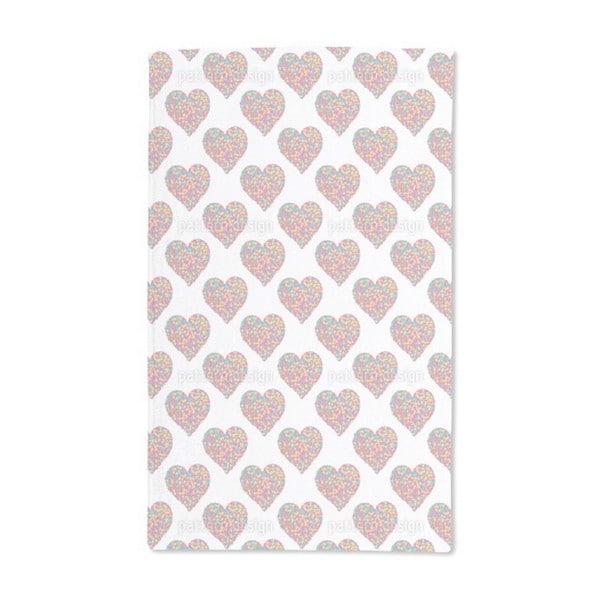 Hearts of Dots Hand Towel (Set of 2)