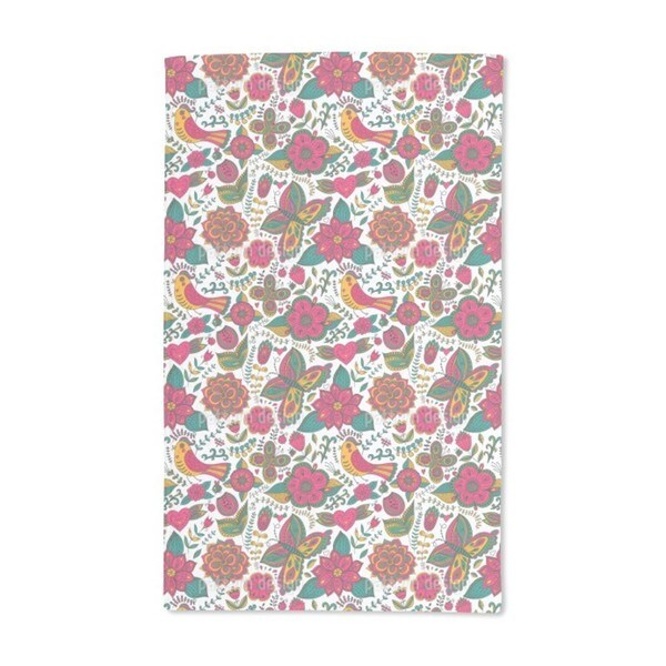 Fauna and Flora in Summer Hand Towel (Set of 2)