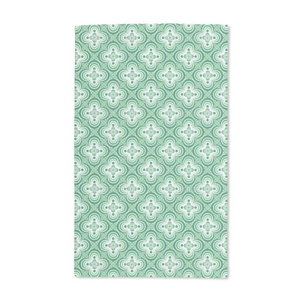 Quatrefoil Green Hand Towel (Set of 2)