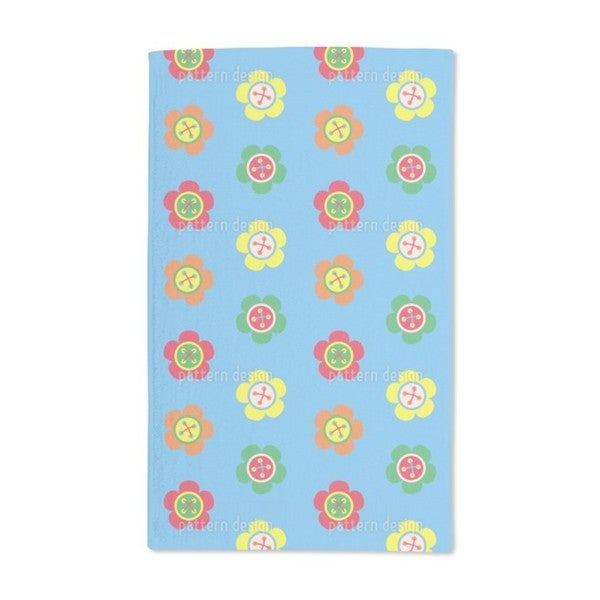 Flower Buttons Hand Towel (Set of 2)