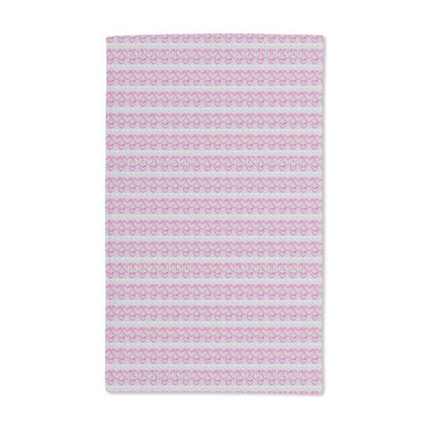 Heart and Strip Hand Towel (Set of 2)