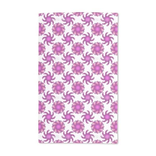 Geometric Flower Magic Hand Towel (Set of 2)