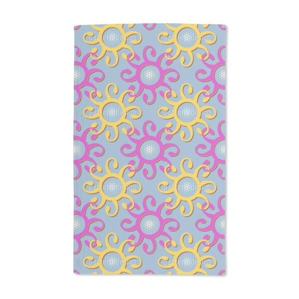 Connection of the Sun Hand Towel (Set of 2)