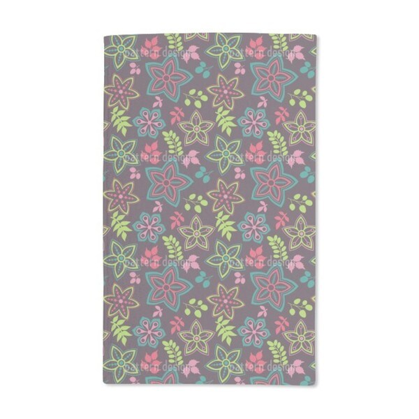 Gorgeous Flower Mix Hand Towel (Set of 2)