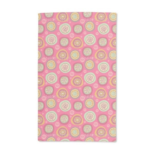 Blooming Circles Hand Towel (Set of 2)