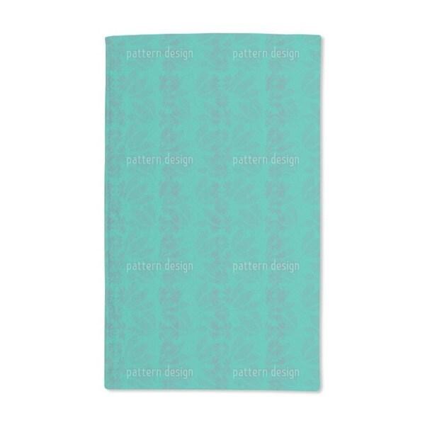 Flower Leaves Mint Hand Towel (Set of 2)