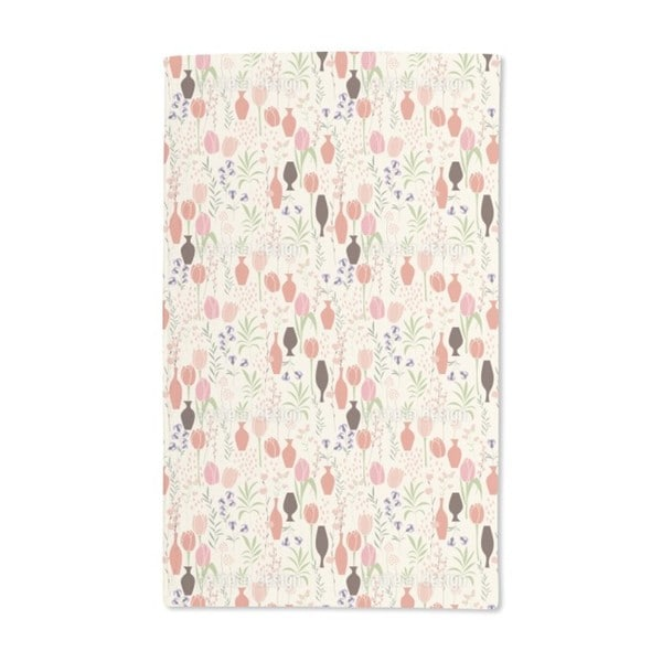 Tulips and Vases Hand Towel (Set of 2)