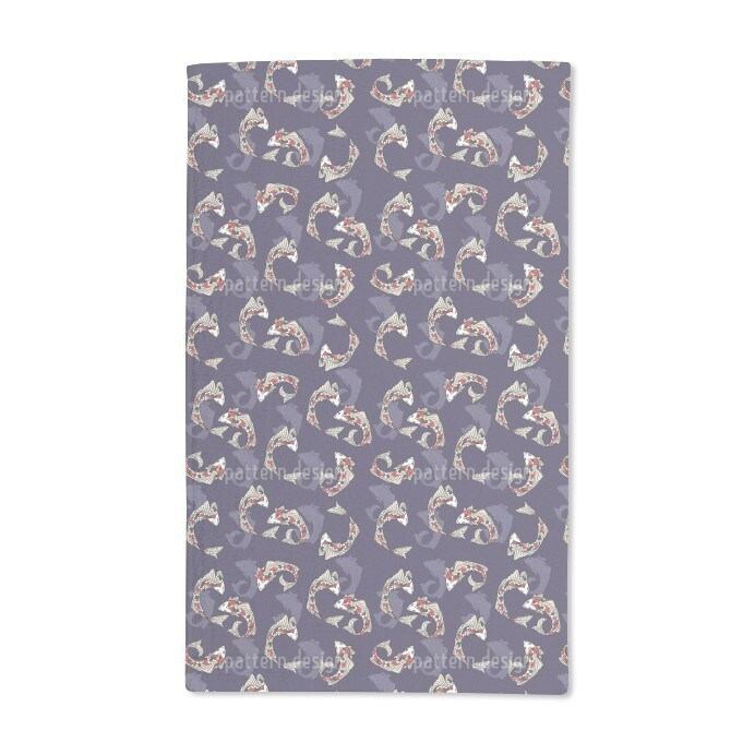 Uneekee Koi Fish Hand Towel (Set of 2) (Koi Fish Hand Tow...
