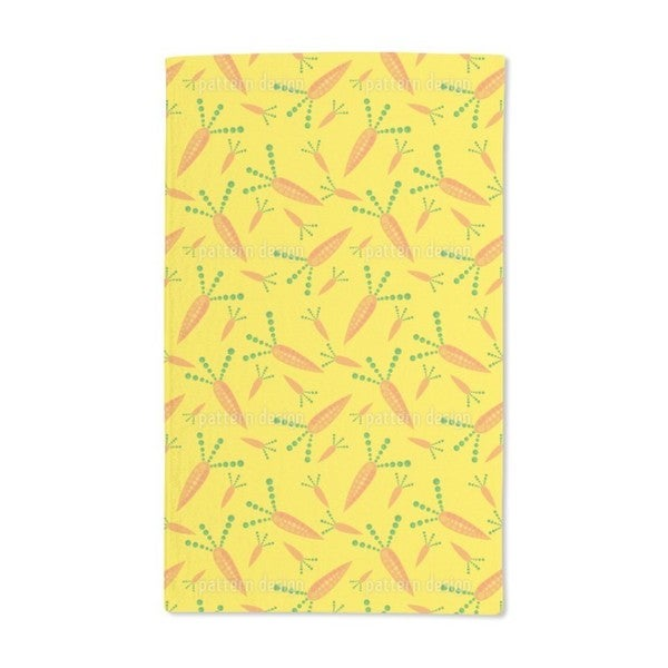 Funky Carrots Hand Towel (Set of 2)