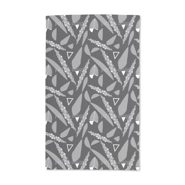 Stripe Fantasy Leaves Hand Towel (Set of 2)