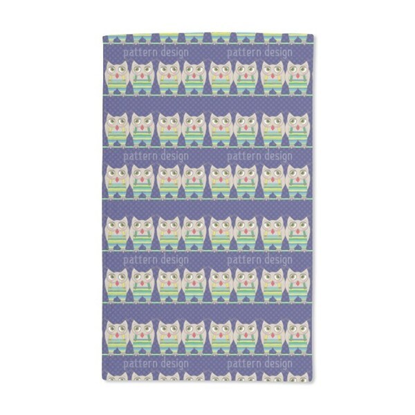 Owls on a Rope Hand Towel (Set of 2)