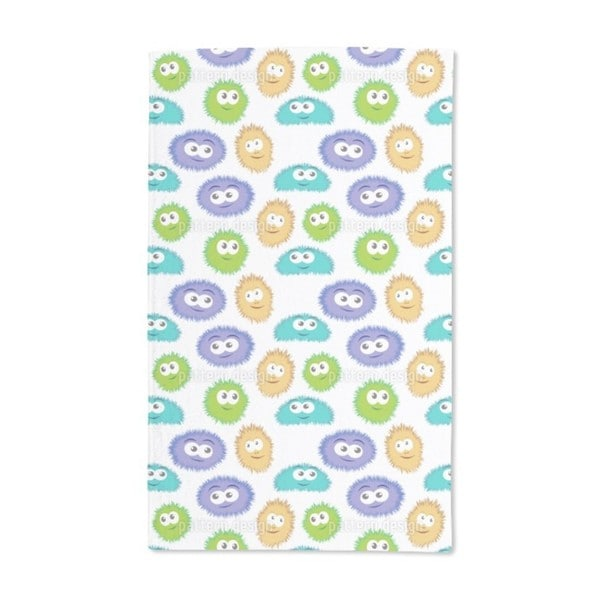 Fluffy Monsters Hand Towel (Set of 2)