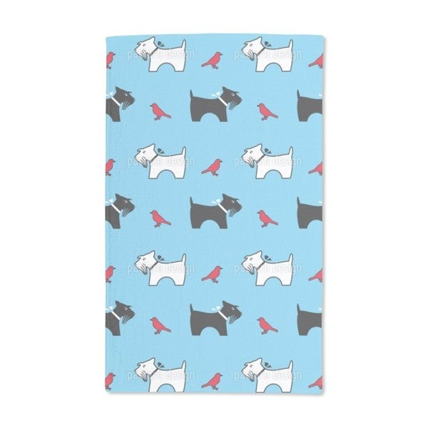 A Terriers Bird Eye View Hand Towel (Set of 2)