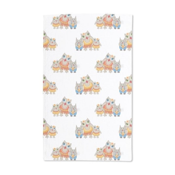 Family Owl Hand Towel (Set of 2)