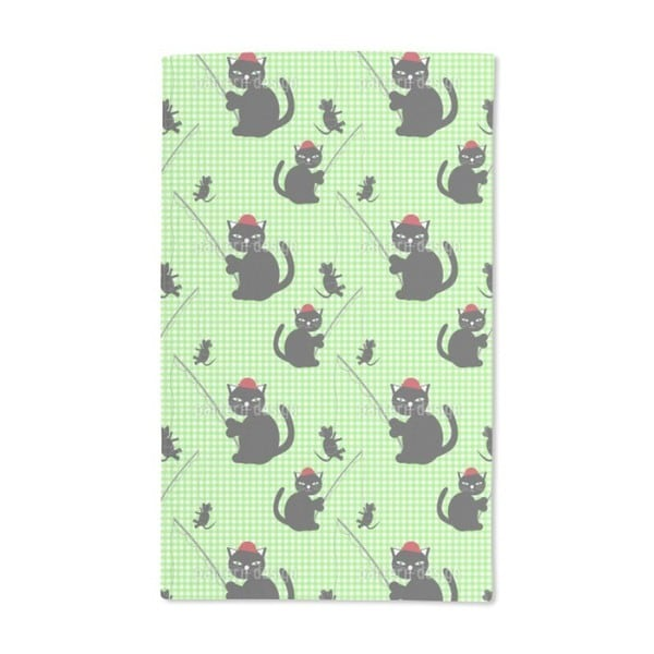 Cat-And-Mouse-Game Hand Towel (Set of 2)