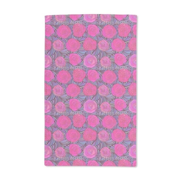 Feathers and Roses Hand Towel (Set of 2)